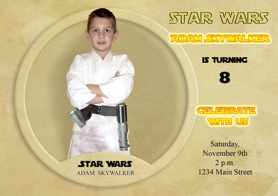 Star wars invitation star wars parody greeting card m4hsunfo