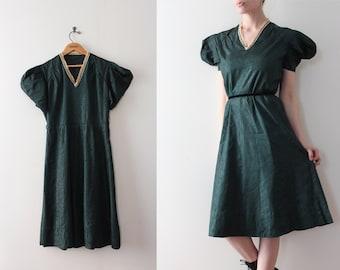 ON SALE vintage 1930s dress // 30s green evening dress