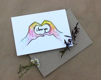 I Love You Gift Card- Print