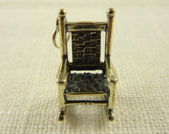 Vintage Large Sterling Rocking Chair Charm