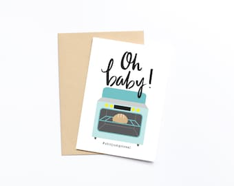 Oh Baby, Bun in the Oven Greeting Card