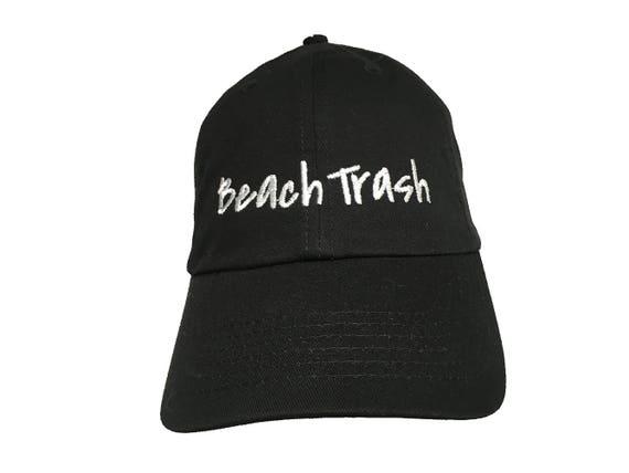 Beach Trash (Polo Style Ball Black with White Stitching)