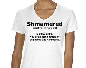 Shmamered Funny Graphic Drinking T-Shirt