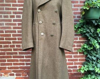 Vintage WWII Officers Coat Jacket 1945 Wool 36R