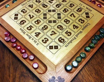 Engraved Dice Sequence Game Board