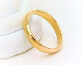 18K Yellow 4.5mm Heavy Comfort Fit Band