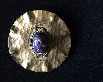 Victoria sash pin | brooch | purple opal