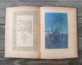 Vintage 1910 -1920s Rubaiyat of Omar Khayyám Book / Antique Book / Persian Poetry Book / Sufi Spiritual Book