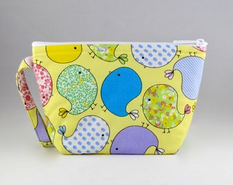 Bubbly Birds Makeup Bag - Accessory - Cosmetic Bag - Pouch - Toiletry Bag - Gift