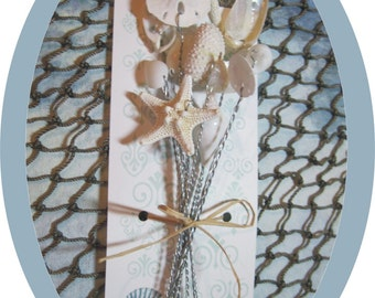 Beach Wedding Shells - Seashells - 1 Dozen Wired Starfish - Shell Stems - Wedding Bouquets and Centerpieces