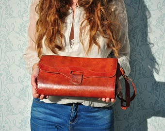 Leather bag, leather bags women, vintage leather bag, leather purse, leather shoulder bag, leather handbag, red leather bag