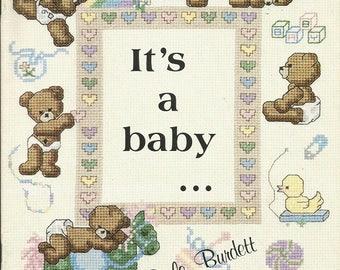 "Vintage Dale Burdett ""It's a Bby"" Cross Stitch leaflet"