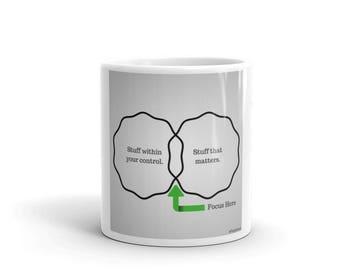Coffee Mug | Focus Inspirational Quote Inspirational