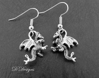 Sterling Silver Dragon Earrings Z6CADZojs4