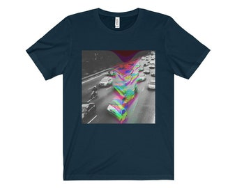 Vaporwave Aesthic Traffic Short Sleeve Tee