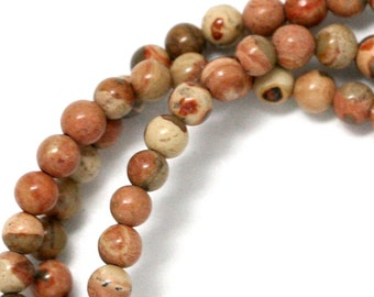 Safari Jasper Beads - 4mm Round - Limited Quantity