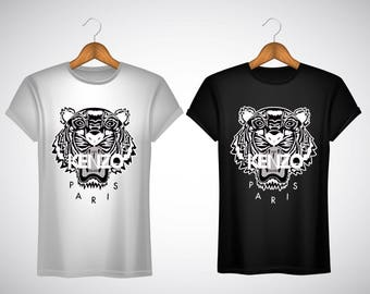 T-Shirt Kenzo Paris Tigre Logo Tiger Luxe S M L XL XXL UNISEXE
