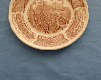 "Vintage Fair Winds 7"" Plate by Alfred Meakin"