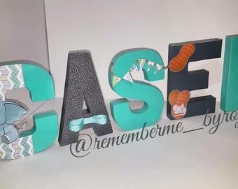 5 Letter -- Paper Mache Decorative Name Display