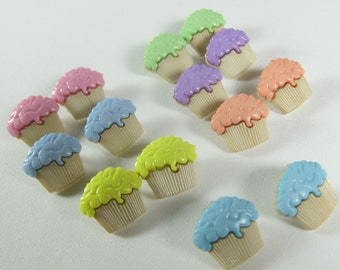 Lot of Cupcakes Novelty Buttons