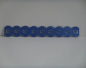 Cutting edge lace in Navy Blue design for creating paper