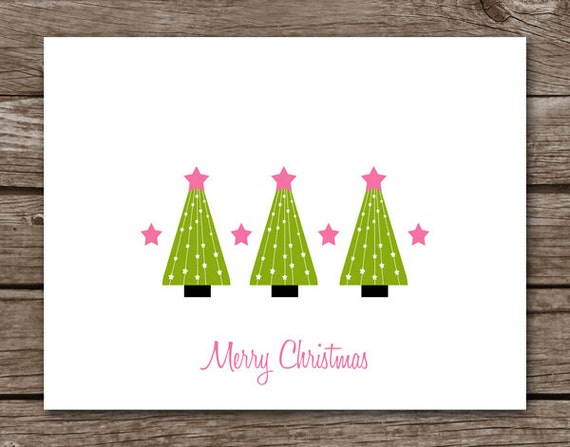 christmas tree note cards christmas note cards holiday notechristmas tree note cards, christmas note cards, holiday note cards, personalized cards, set of 8