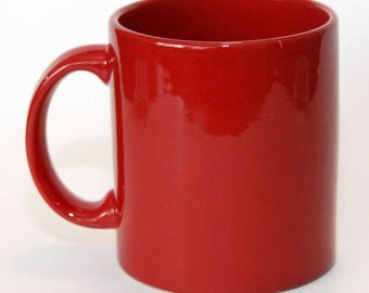Waechtersbach Germany Solid Red Cup Mug, Ceramic