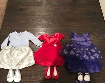 Christmas american girl doll clothes pack