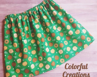 Girl Scout cookies skirt, girl scouts, girls twirl skirt, girls clothing