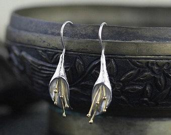 925 Sterling Silver earrings beautiful flower