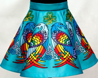 Irish Dance/Skirt/ European Style/Personal Skirt For Irish Dancing/Practice And Competitions/Celtic/Turquoise