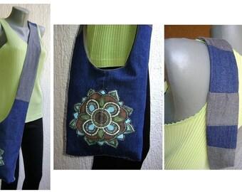 Mandala reversible shoulder bag