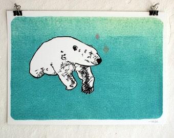 Digitaldruck - Polarbär - A4