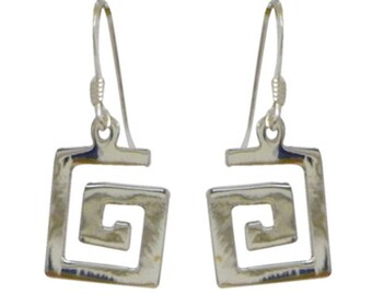 Silver earrings 925 Silver earrings ladies jewelry spiral small block (part No. OS-213)