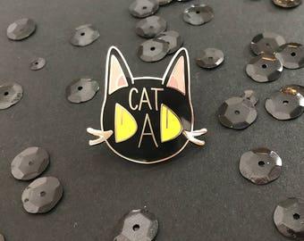 Cat Dad Hard Enamel Pin | Hard Enamel Pin | Cat pin | Cats | Pets | enamel pin | pin | lapel pin | cat enamel pin | cat lover | cat dad