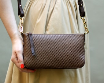 30%OFF&Free shipping! Brown bag, shoulder bag, brown leather crossbody, small bag, leather crossbody, leather bag, brown crossbody