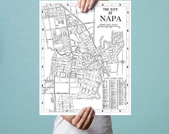 Napa map Etsy