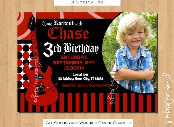rock star invitation Rockstar Invitation rockstar birthday
