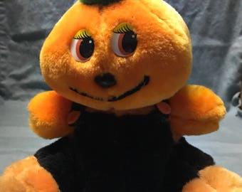 Carnival prize halloween stuffed pumkin man