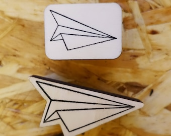 Stamp Origami airplane