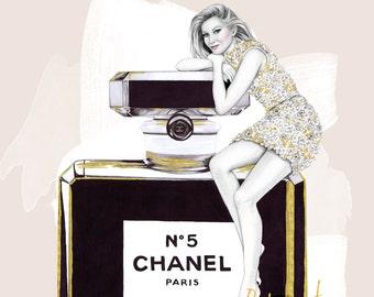 Giselle fashion illustration