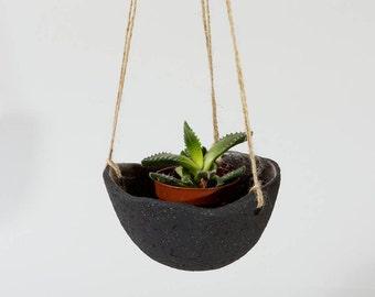 Schwarze Keramik Übertopf Keramik Hängeampel ~ Hängeampel Indoor ~ schwarze Keramik Pflanze Blumentopf Keramik Pflanze Töpfe moderne Übertopf ~ Töpfe