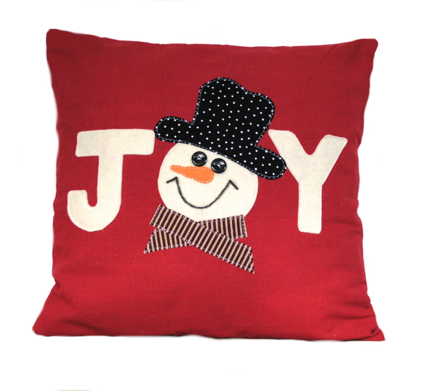 SALE Snowman Christmas Pillow cover holiday pillow