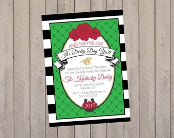 Kentucky Derby Invitation, Derby Invite, Kentucky Derby Party, Kentucky Derby Baby Shower Party Invitation- PDF File