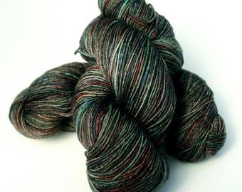 Midnight Serenade Colorway: 100 grams Handdyed Merino/Tencel/Nylon Fingering Weight Yarn, Hand Dyed Sock Yarn