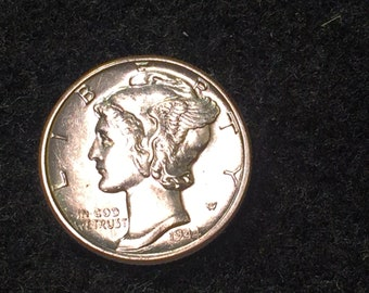 1944 gem bu mercury dime sweet one!!  inv535 authentic american uncirculated us silver dime coin