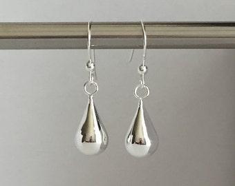 SALES: Sterling Silver Tear Drop Earrings. Dangle Jewelry. Tear Drop Earrings. Sterling Silver Earrings. Fancy Tear Drops. Gift for Her