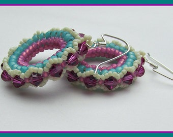 Herringbone Hoop Earrings PDF Pattern Instant Download