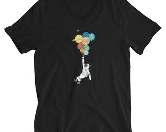 Balloons V-Neck T-Shirt