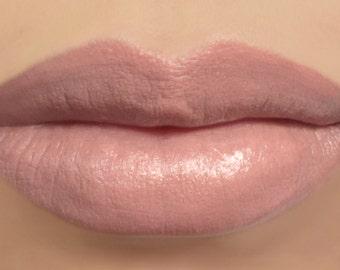 """Vegan Lipstick - """"Maple"""" peach brown nude mineral lipstick"""